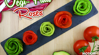 How to make veggie fruit roses - Video