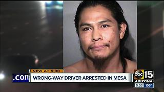 Wrong-way driver arrested in Mesa after several crashes