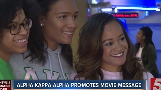 Box Office Winner Promotes Sorority's Message - Video