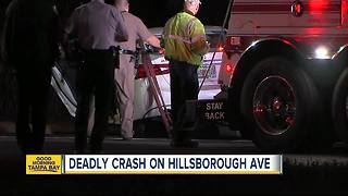 FHP troopers investigate fatal crash on Hillsborough Avenue in Tampa - Video