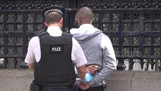 Alleged knifeman arrested outside Parliament - Video