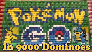 Colorful Domino Display is Inspired by Pokemon Go - Video