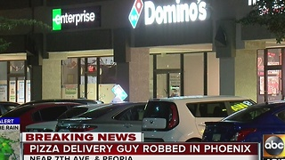 Pizza delivery man robbed in Peoria - Video