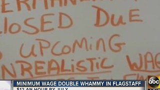 Minimum wage causing issues for businesses in Flagstaff - Video