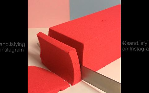 Oddly satisfying compilation of kinetic sand clips