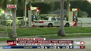 Two arrested in Fort Myers crime scene Monday morning