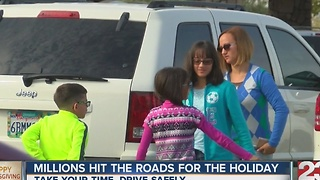 Millions hit the roads for the holiday - Video