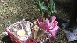 Memorial set up for six children killed in Baltimore house fire - Video