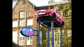 Weird Car Hotel On A Pole - Video