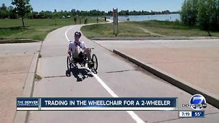 Paralyzed bicyclist overcomes the odds to return to the sport he loves - Video