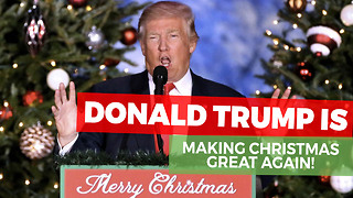 "They Told Trump He Can't Say ""Merry Christmas,"" So He Takes Immediate Action - Video"