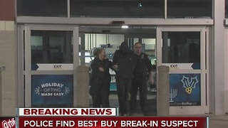 Police find Best Buy break-in suspect in ceiling - Video