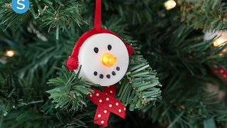 Tea light snowmen ornament DIY holiday craft - Video