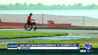 Man uses near-death experience to celebrate life - Video