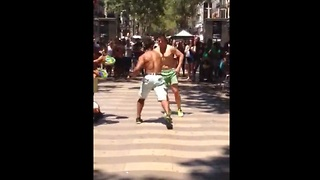 Capoeira street artists perform impressive 'dance fight' - Video