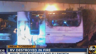 FD: Fire sparks at Mesa RV park - Video