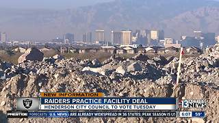 The Raiders' practice facility could be in Henderson - Video