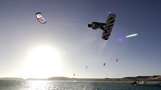 15-year-old Kitesurfer Pulls Off Incredible Stunts - Video