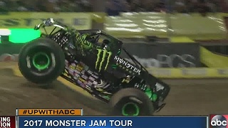 2017 Monster Jam Tour comes to Ray J Stadium - Video