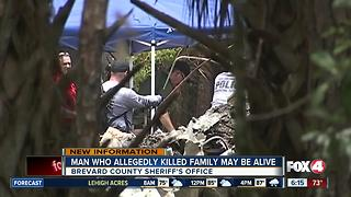 Brevard Deputies: father who killed family, self is still alive - Video