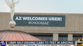 Arizona Governor Doug Ducey welcomes Uber's self-driving cars to the Valley - Video