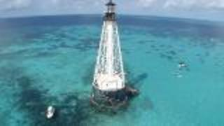 Extreme Swim Around Florida Keys Lighthouse - Video