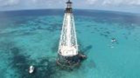 Extreme Swim Around Florida Keys Lighthouse