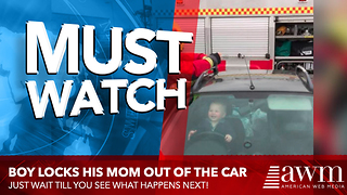 Toddler Has The Best Reaction After Finding Out Firefighters Have To Rescue Him From Car