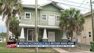 Child dead after being shot by sibling - Video