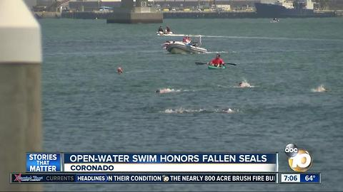 Open-water swim honors fallen Navy ++SEALS
