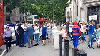 Protestors Gather in Support of Charlie Gard Outside the Supreme Court in London - Video
