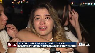 Loved ones demanding justice after 2 teens killed by suspected drunk driver - Video