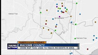 Crime map tool tracks incidents in Macomb County - Video