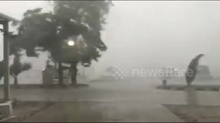 Extreme thunderstorm batters Varna, Bulgaria - Video