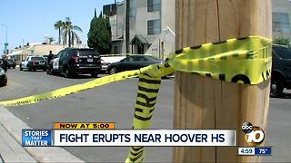 Fight erupts at Hoover High School - Video