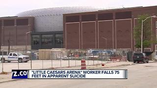 Little Caesars Arena worker falls 75 feet in apparent suicide - Video