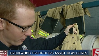 Brentwood Firefighters Return From East Tennessee Wildfires - Video