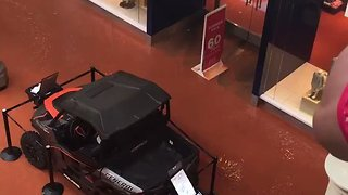 Flood Water Swamps Oklahoma City's Penn Square Mall - Video