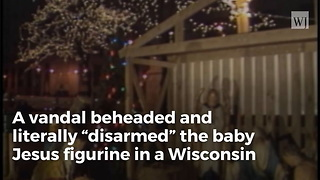 Baby Jesus Beheaded By Vandal In Antique Nativity Scene - Video