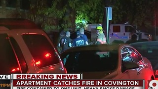Apartment catches fire in Covington - Video