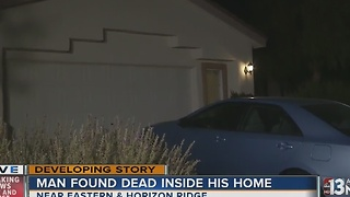 Elderly man found dead inside Henderson home - Video
