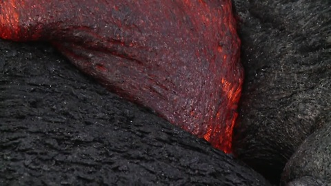 Lava flow in Hawaii moves forward
