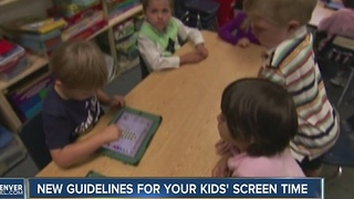 New Guidelines For Your Kids Screen Time - Video