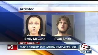 Infant found with multiple bone fractures; parents taken into police custody - Video