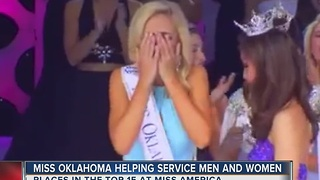 Miss Oklahoma Helps Service Men And Women - Video