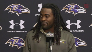 Alex Collins Reveals The Big Reason He Wears His Dark Visor - Video