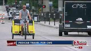 Pedicab at the College World Series