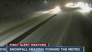 Snow and slick roads tonight and Wednesday - Video