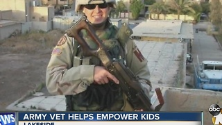 Army vet helps empower kids - Video