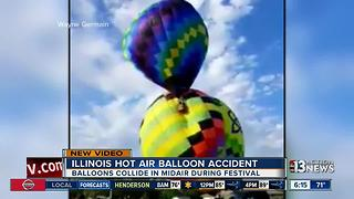 Video of crazy hot air balloon accident in Illinois - Video